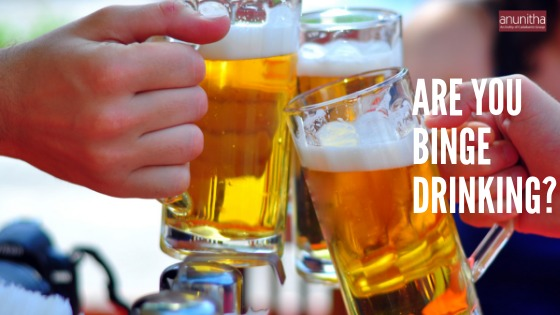 When does drinking become binge drinking disorder?